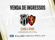 Ceará x Sport: Confira informações de venda de ingressos nessa quarta-feira