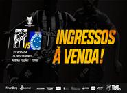 Venda de ingressos para Ceará x Cruzeiro inicia nesta quinta-feira, 19/09