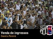 Jogo entre Ceará x Paraná terá ingressos a partir de R$ 20