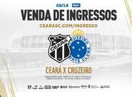 Ceará x Cruzeiro: Confira informações sobre a venda de ingressos