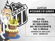 Em comemoração pelos 101 anos, Ceará realiza jantar para o torcedor