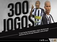 Contra o Vasco, João Marcos atingirá marca de 300 jogos pelo Ceará