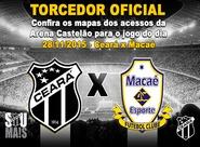 Confira os mapas de acessos para Ceará x Macaé