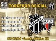 Confira os mapas de acessos para o jogo entre Ceará x Atlético/GO