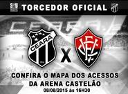 Confira os mapas de acessos para Ceará x Vitória