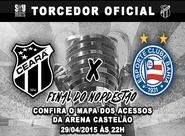 Confira os mapas de acessos para a decisão entre Ceará x Bahia