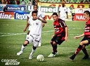 Fora de casa, Ceará toma gol no fim e empata com o Guarany (S) em 1 x 1