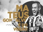 É do Vozão! Ceará fecha contratação do atacante Mateus Gonçalves