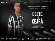 Série B: Em confronto direto, Oeste e Ceará se enfrentam hoje na Arena Barueri