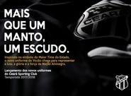 Confira detalhes do lançamento do novo uniforme do Ceará para temporada 2017-2018