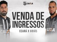 Continua a venda de ingressos para Ceará x Goiás