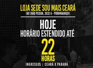 Ceará x Paraná: Horário estendido para venda de ingressos