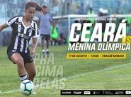 Futebol Feminino: Ceará estreia no Campeonato Cearense Sub-20 contra o Menina Olímpica