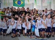 """Leandro Brasília e Assisinho participaram do """"Vovô vai à Escola"""""""