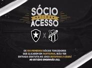 Torcedores Oficiais poderão assistir Botafogo e Ceará de forma gratuita, no Engenhão