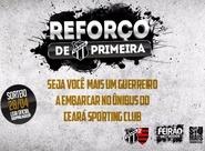 Promoção levará torcedor no ônibus do Ceará para jogo contra o Flamengo