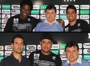 Bill, Leandro Brasília e Sandro foram apresentados nesta tarde