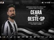 Série B: Ceará enfrenta o Oeste hoje no Presidente Vargas