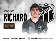 Richard chega para reforçar quadro de goleiros do Ceará
