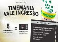 Troque apostas na Timemania por ingresso de Ceará x Joinville