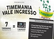Troque apostas do concurso da Timemania por ingresso de Ceará x Avaí
