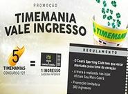 Troque aposta da Timemania por ingresso de Ceará x Sampaio Correa (Série B)