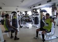 Elenco treina fisico em Atibaia