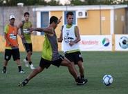Elenco finalizou os treinos antes do jogo contra Palmeiras