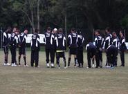Elenco treina em Porto Alegre com frio forte