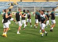 No Estádio Albertão, elenco do Mais Querido treinou nesta tarde