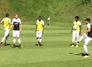 Já em Belo Horizonte/MG, elenco treinou na manhã deste domingo