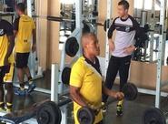 Grupo treinou em Chapecó/SC e iniciou preparação para jogo do fim de semana