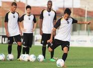Sérgio Soares comandou treino técnico/tático com o grupo