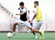 Na Arena Castelão, grupo do Ceará treinou nesta quinta-feira