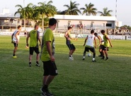 Elenco treina no CAP visando o Flamengo