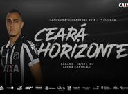 Pela 7ª rodada do Estadual, Ceará e Horizonte se enfrentam hoje, no Castelão