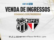 Ceará x São Paulo: Confira informações sobre a venda de ingressos