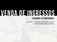 Ceará mantém ingressos promocionais para partida contra Criciúma