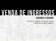 Partida entre Ceará x Goiás terá ingressos promocionais. Confira detalhes