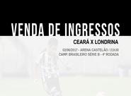 Venda de ingressos para Ceará e Londrina continua em todas as lojas oficiais do Clube