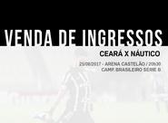 Venda de ingressos para Ceará e Náutico começa nesse domingo