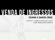 Venda de ingressos para Ceará x Santa Cruz começa nesse sábado