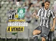 Venda de ingressos online, para o jogo Ceará x Palmeiras, já está disponível