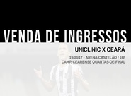 Vendas de ingressos: Uniclinic x Ceará