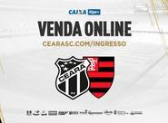 Venda online de ingressos para Ceará x Flamengo
