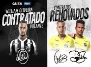 Volante William Oliveira é o mais novo contratado. Fernando Henrique e Diogo Silva renovam contratos
