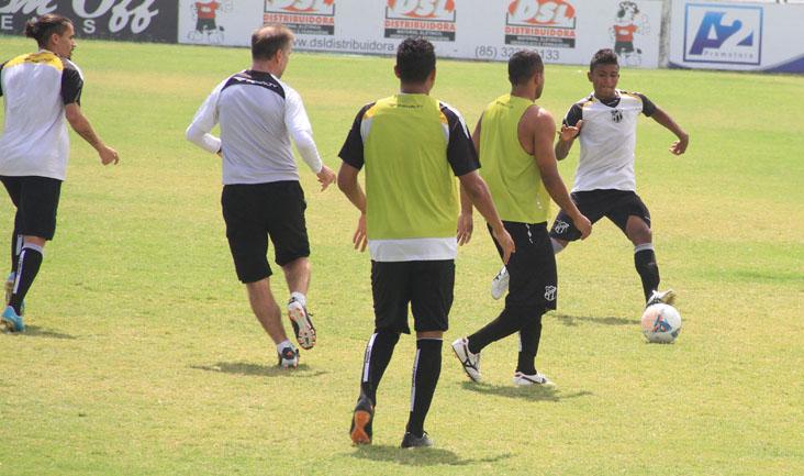 Os jogadores do Alvinegro Cearense realizaram o último treino desta temporada