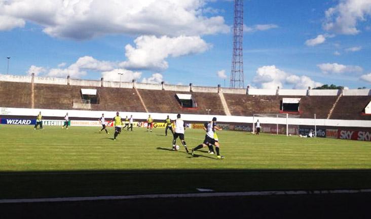 As atividades desta tarde foram realizadas no estádio Morenão, local do jogo
