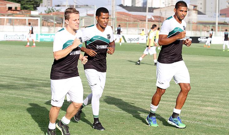 Alex Amado, João Marcos e Carlão realizaram apenas treinos regenerativos nesta tarde