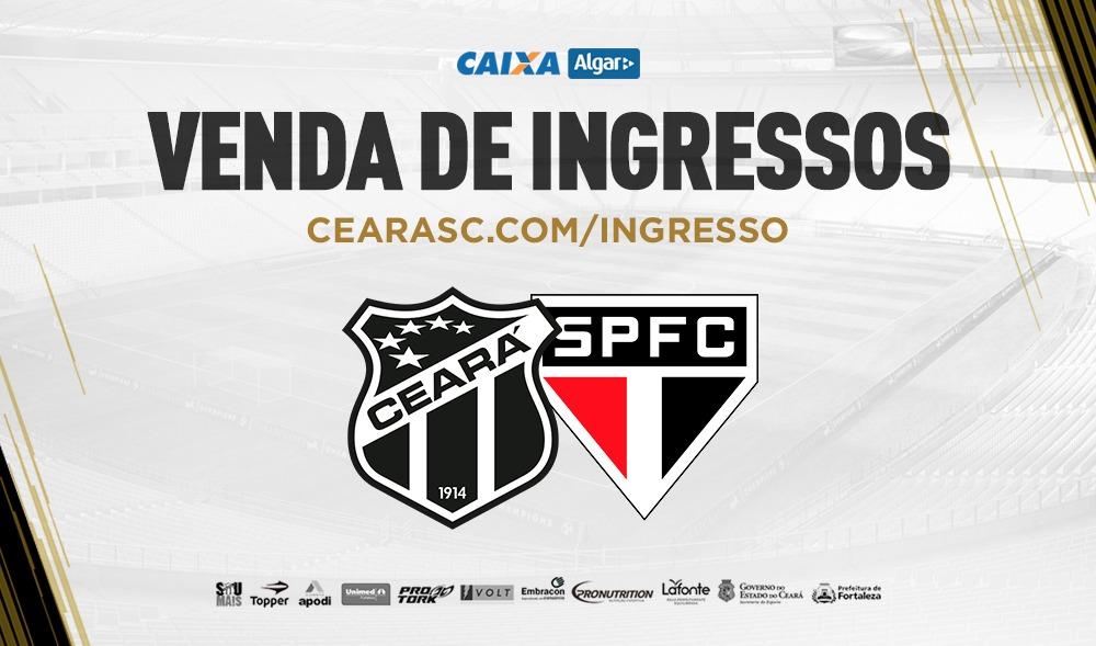 6db1a6709d Ceará x São Paulo  Confira informações sobre a venda de ingressos